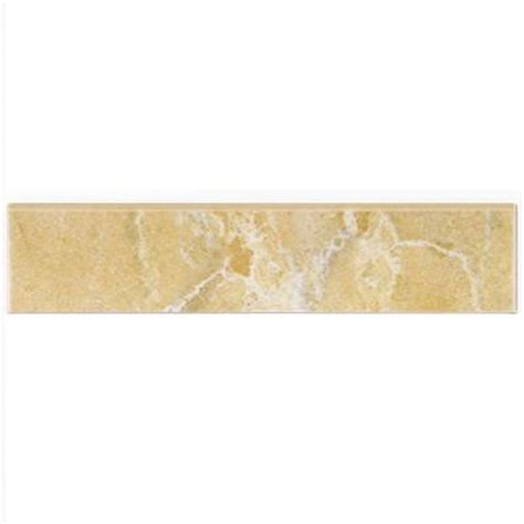 Home Depot Wall Tile Trim by Merola Tile Aroa Arena 2 In X 8 In Ceramic Bullnose Wall
