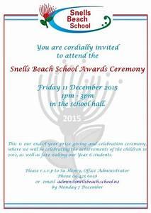 Invitation Card Format For Event Snells Beach School Newspaper 27 November 2015