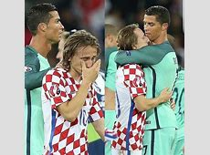 A crying Luka Modric was consoled by his Real Madrid