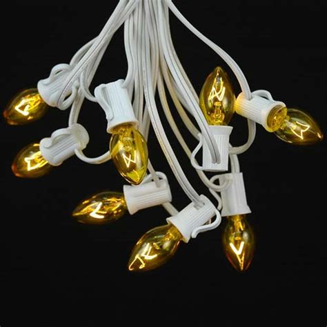 gold christmas lights white wire 20 led battery operated christmas lights yellow on white