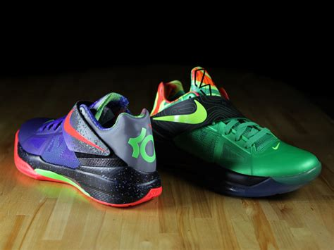 nike zoom kd iv nerf  weatherman comparison foot