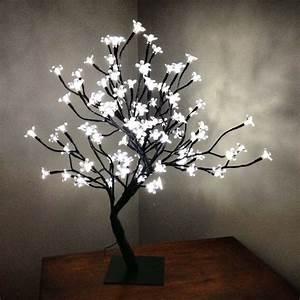 Tree lamp with light up flowers lamp ideas pinterest for Led flower floor lamp