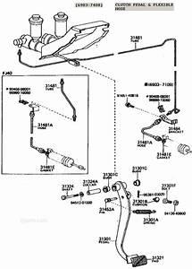 Fj40 Fj45 Fj55 And Fj60 Clutch Pedal Assembly Illustration