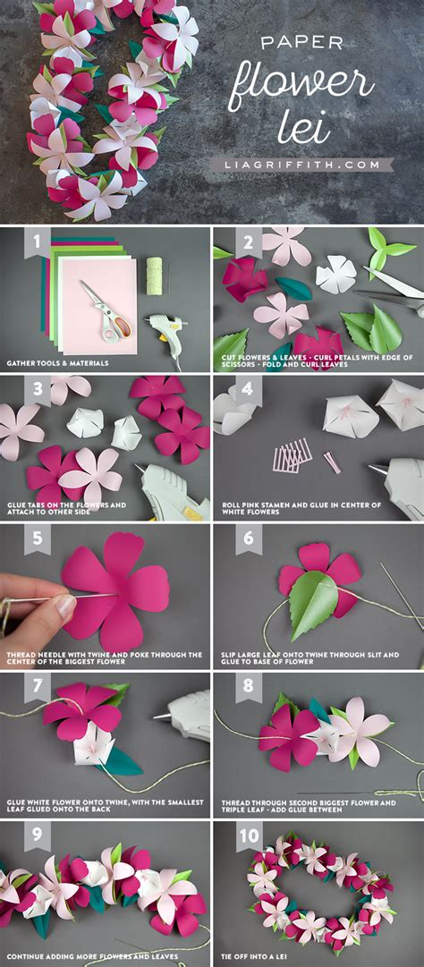 paper flower lei lia griffith