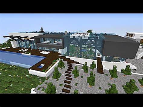 minecraft maison moderne style industriel by thevisual play