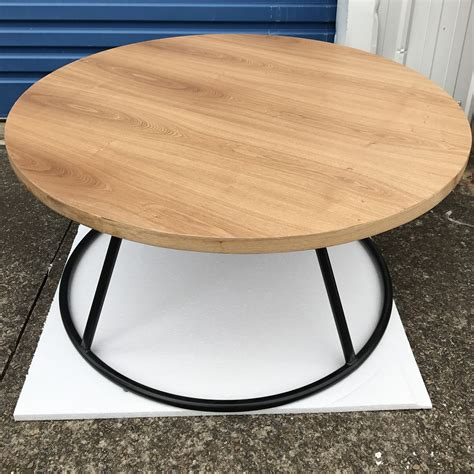 round industrial coffee table industrial round coffee table