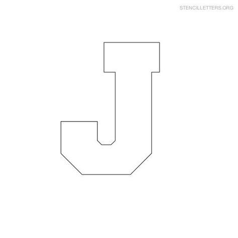Block Letter Templates by Block Letter Stencils Stencil Letters J Printable Free J