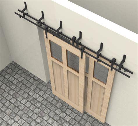 6 6 6ft bypass sliding barn wood door closet door interior