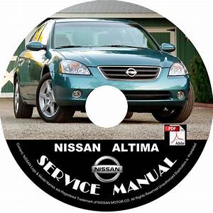 Nissan 2002 Altima Service Repair Shop Manual On Cd 02