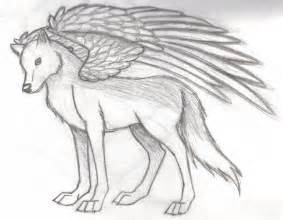 Easy Wolf Drawings with Wings