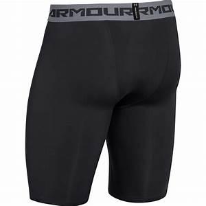 Under Armour Mens Heatgear Long Compression Short Black