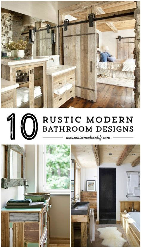 Badezimmer Landhausstil Modern by Rustic Modern Bathroom Designs Mountainmodernlife