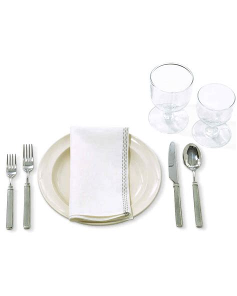 wine glass placement on table setting the table 101 martha stewart