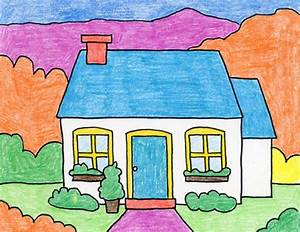 How, To, Draw, A, Cottage, U00b7, Art, Projects, For, Kids