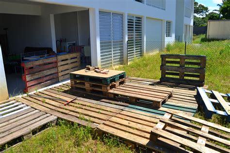 fabrication terrasse jardin palette