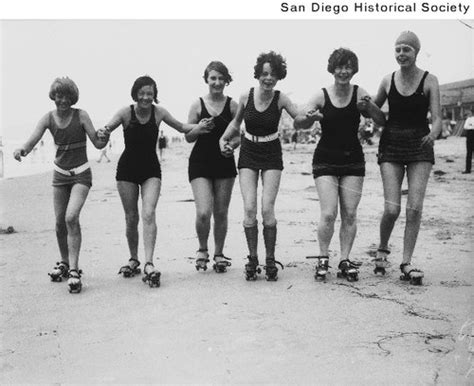 Women Roller Skating On The Beach On The