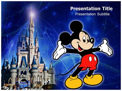 creating  amazing mickey mouse powerpoint template