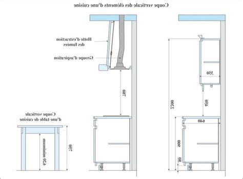 hauteur d un ilot de cuisine hauteur et largeur du plan de travail collection et hauteur plan de travail cuisine photo