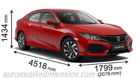 dimensions  honda cars showing length width  height