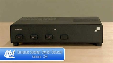 Sonance Speaker Switch Selector Overview Youtube