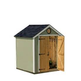 shop heartland 6 x 6 x 8 wood storage shed at lowes com
