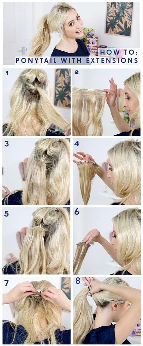ponytail tutorial  milk blush hair extensions hair extensions  hair