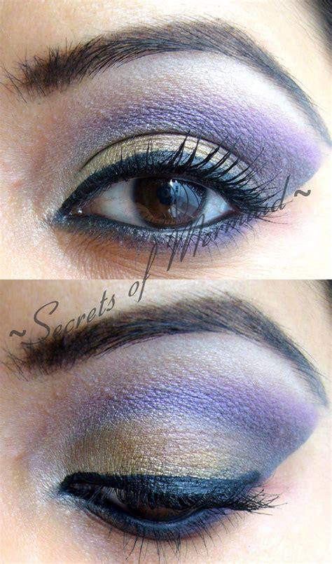 secrets  mermaid makeup tutorialyellow purple eye