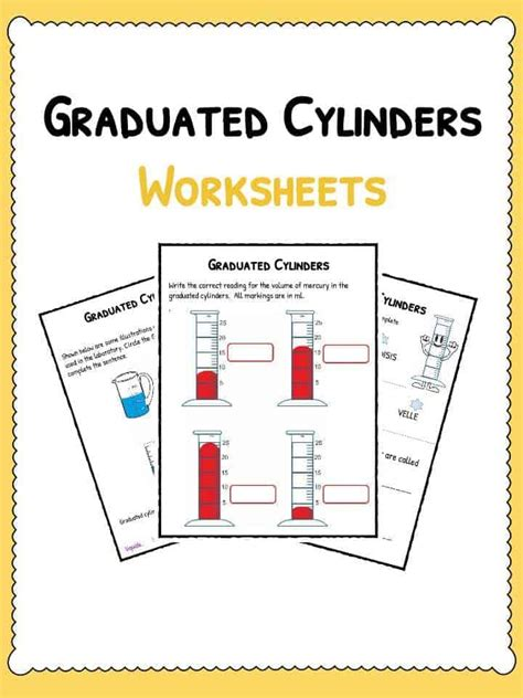 Graduated Cylinders Worksheet  Pdf Downloadable Study Worksheets