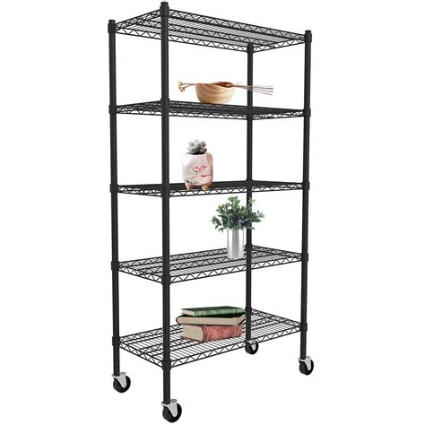 clearance black metal shelving unit  tier heavy duty
