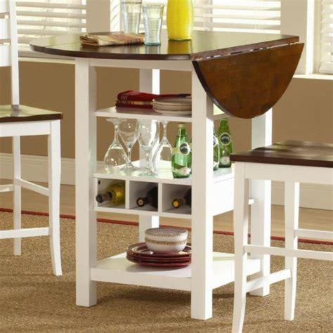 table bar de cuisine avec rangement designs créatifs de table pliante de cuisine
