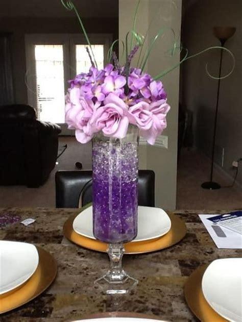 25 best ideas about purple centerpiece on pinterest