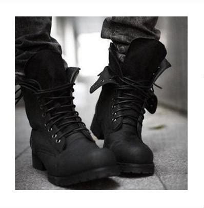Retro Combat Boots Winter Punk Style Fashionable Men