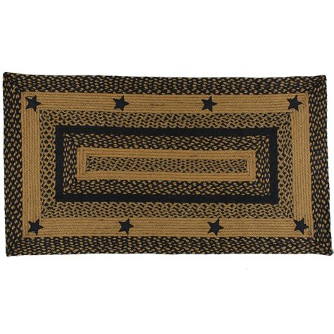 Primitive Rugs With - black and braided rug with primitive country