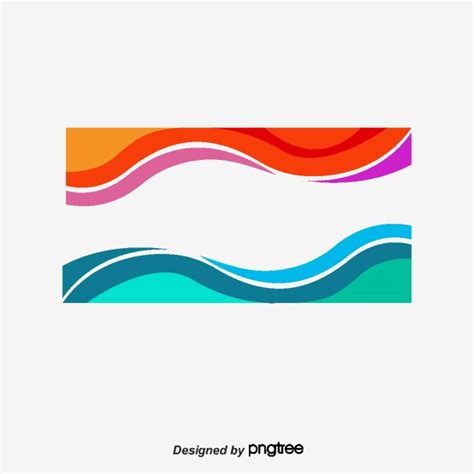 color waves and blue wave border vector png wave border color