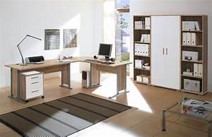 Arbeitszimmer Möbel : 7 tlg arbeitszimmer office line in eiche sonoma weiss ~ Pilothousefishingboats.com Haus und Dekorationen