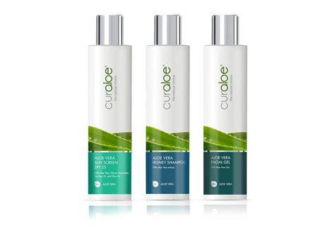 packaging design for a curaloe premium aloe vera skin care products packaging aloe vera