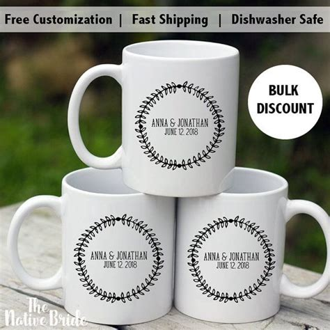 Our wholesale mugs also make thoughtful gifts that show appreciation for teachers, firemen, nurses, and loved ones. Coffee Mug Wedding Favors, Alternative wedding favors, High End wedding Favors Wedding Favors ...