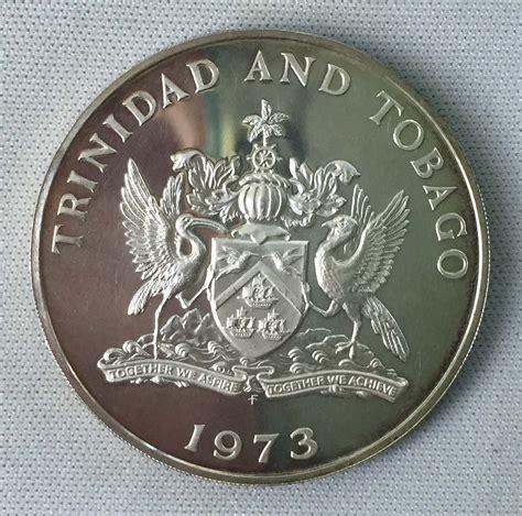 trinidad  tobago  dollars  silver coin