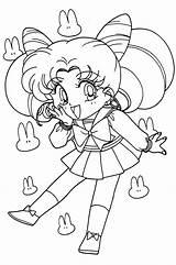 Coloring Sailor Moon Chibi Pages Anime Adult Cartoon Drawing Printable Colouring Manga Sailormoon Jupiter Getdrawings Mini Rini Sailors Books 1813 sketch template