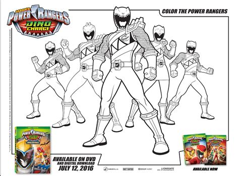 Power Rangers Dino Charge Activity Sheets According To