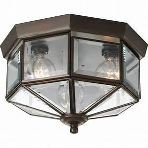 Progress lighting p5788 20 beveled glass outdoor flush for Outdoor flush mount lighting fixtures