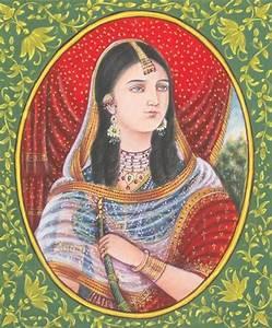 PORTRAIT MUGHAL EMPRESS NOORJAHAN Indian Art Pinterest