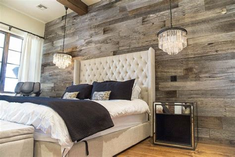 tobacco barn grey wood wall covering master bedroom porter barn wood