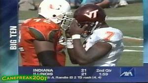 2000 Miami Hurricanes vs Virginia Tech Highlights - YouTube