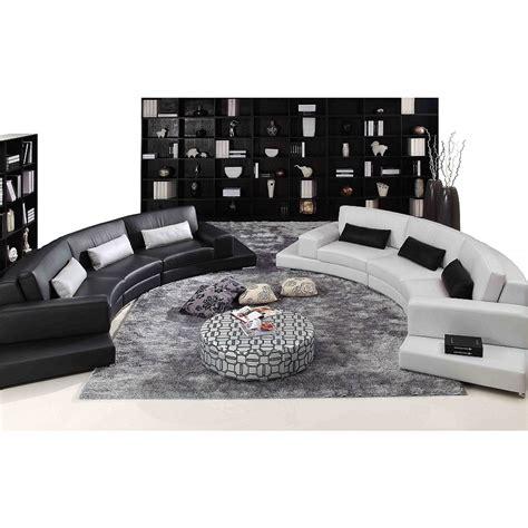 canapé d 39 angle demi lune en cuir pop design fr