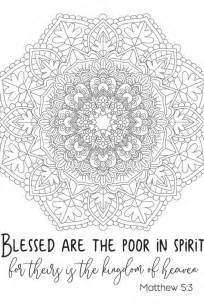 Free Beatitudes Coloring Pages Printable