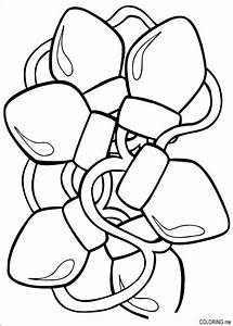 Free coloring pages of a christmas light bulb
