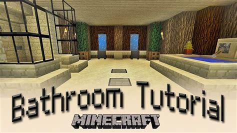 minecraft how to make a bathroom tutorial youtube