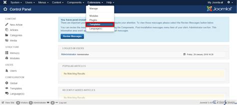 How To Upload A Template In Joomla by Upload Logo In Joomla Protostar Template Interserver Tips