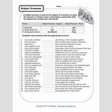 Subject Pronouns  Pronoun Worksheets